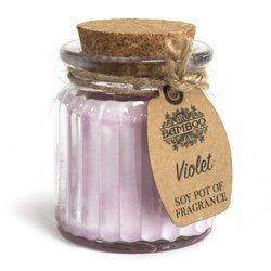 6x Veilchen - Duftende Sojakerzen im Glas