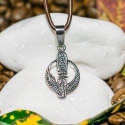 Fürsorgliche Flügel mit Kartusche Talisman aus Silber 925