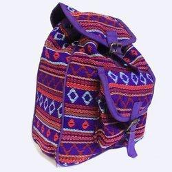 Kleine Nepal Rucksack Lila