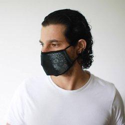 Modische Schutzmaske - Schwarze Eleganz
