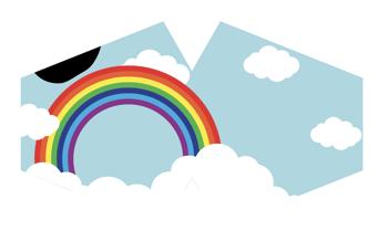 Modische Schutzmaske für Kinder  - Regenbogen