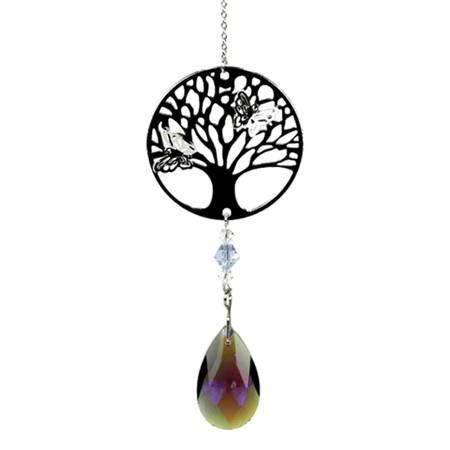 Feng Shui Dekoration Lebensbaum mit Violett Sonnenfänger