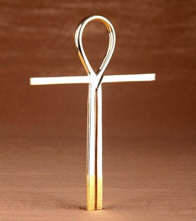Kreuz des Atlantis aus Messing 20,5cm Schutz Talisman