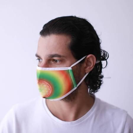 Modische Schutzmaske - Blume des Lebens
