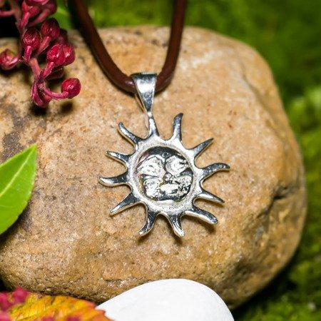 Sonne Anhänger 2cm aus Silber 925